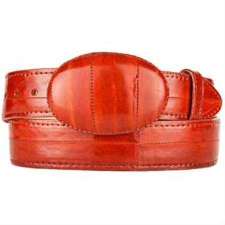 Product# MK113 Cognac Original Eel Skin Western Style Hand Crafted Belt
