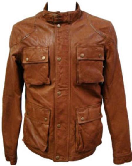 Cognac Lamb Leather Hunting