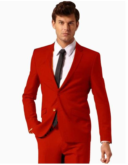 2 Button Style Boys And Men Suit Pants Mens Red Suit color shade ( Regular Cut or Slim narrow Style Cut)