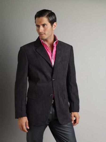 37750-J Liquid Jet Black Patroncito Corduroy Fashion Jacket