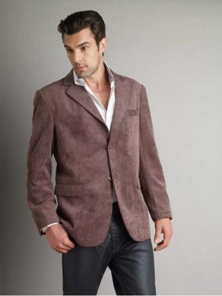 37750-J Patroncito Corduroy brown color shade Fashion Jacket