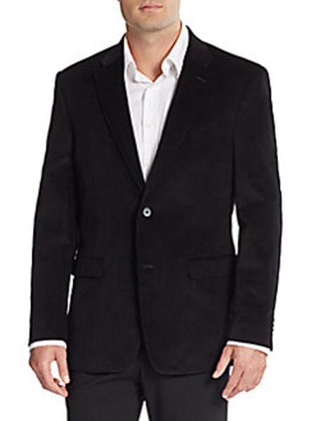 Corduroy Blazer Online Sale Cotton Regular Fit Black
