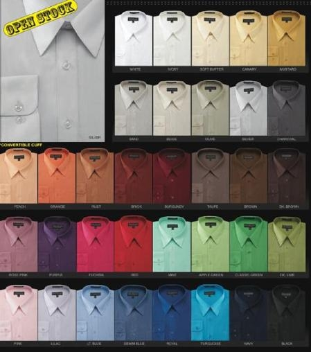 Mds3001U Basic Normal 65%Poly 35%Cotton Dress Shirt in 34 Colors