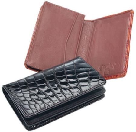 Ferrini Crocodile Card Holder