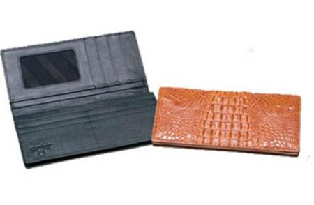 Ferrini Hornback Crocodile Checkbook