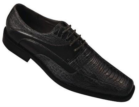 Product#KA9674 High Quality Fashion Dress Shoes for Online Snake Pattern Color Liquid Jet Black