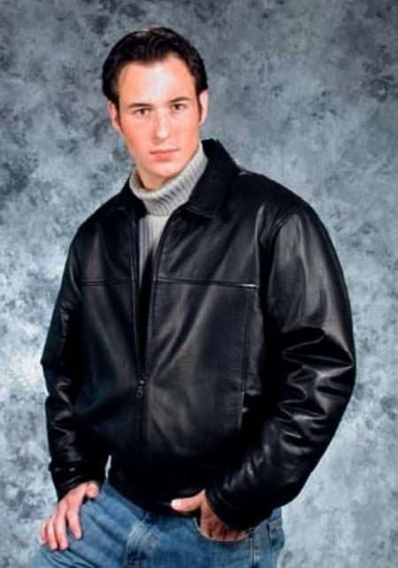trendy casual comfort jacket Liquid Jet Black Available in Big and Tall Sizes
