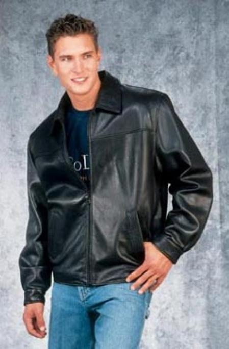 Fashion quality jacket Liquid Jet Black Available in Big and Tall Sizes