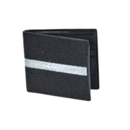 Product# KA5639 Wild West Boots Wallet-Black Genuine Exotic Stingray skin