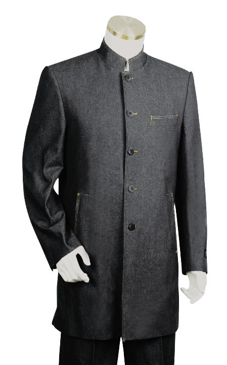 Mens Dark Black Suit