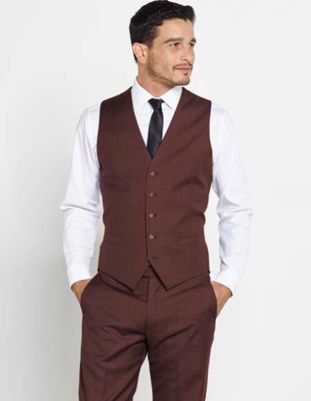 Mens 5 Button Vest