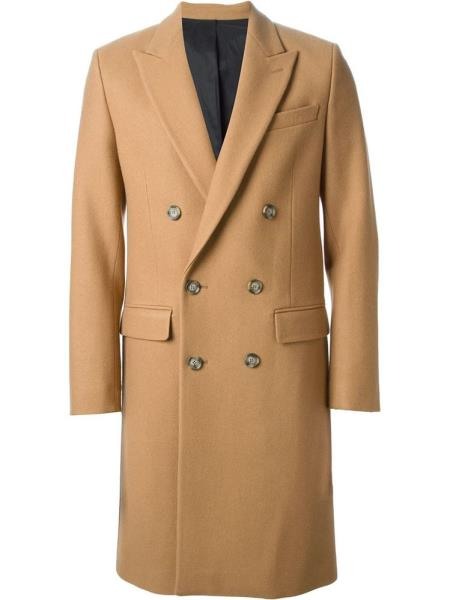 Breasted Long Topcoat Peacoat