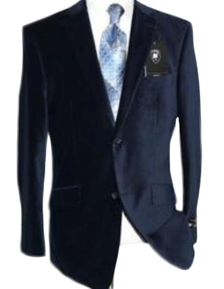 Velvet Navy Blue Shade Sport Coat Blazer Online Sale By Giorgio Cosani