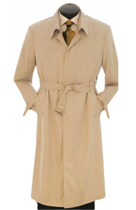 EMIL_CT05 Full Length Best big and tall long Ankle length Trench Rain Coat In Khaki ~ Tan khaki Color ~ Taupe