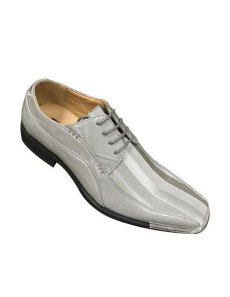 Elegant Synthetic Upper Oxfords Dress Shoes for Online Gray