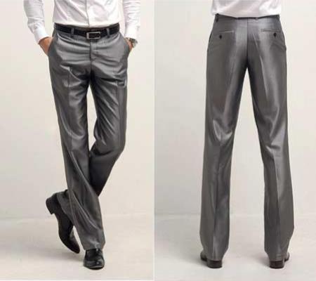 Product# JSM-1882 Shiny Sharkskin Flashy Dress Slack ~ Pants Available In Black,Ivory,White,Navy Blue,Silver,Charcoal Grey
