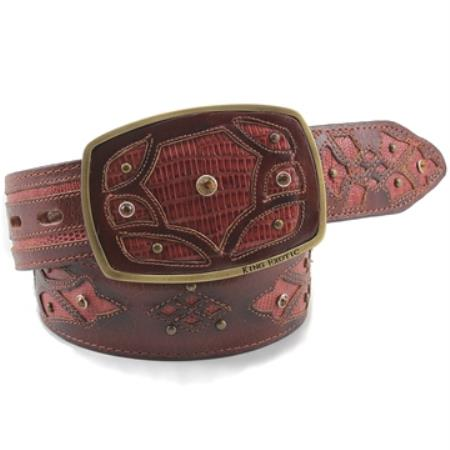 King Exotic Cognac Belt