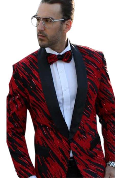 men's Fancy Designed Black Shawl Lapel dinner jacket Sport Coat Blazer