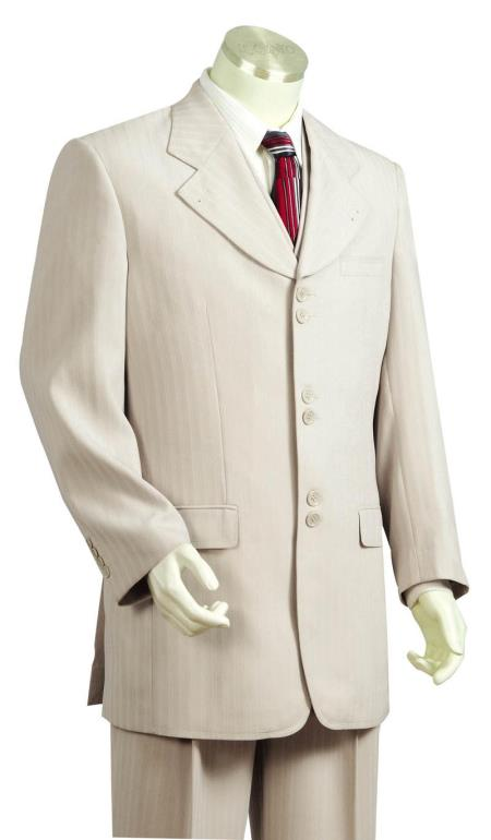Men's 3 Piece Fashion Suit Taupe