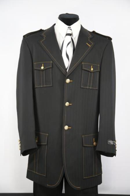 Mens Naval Style Zoot