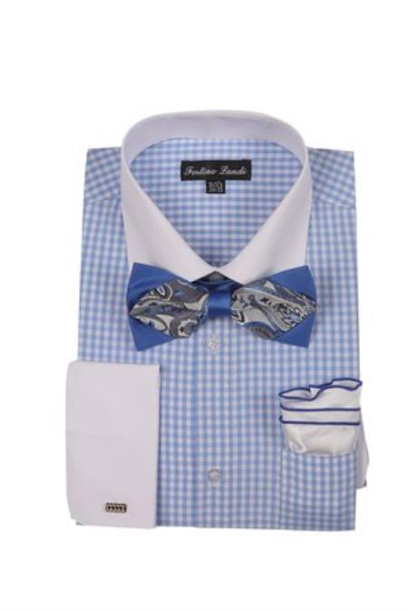 White Collared Contrast Blue