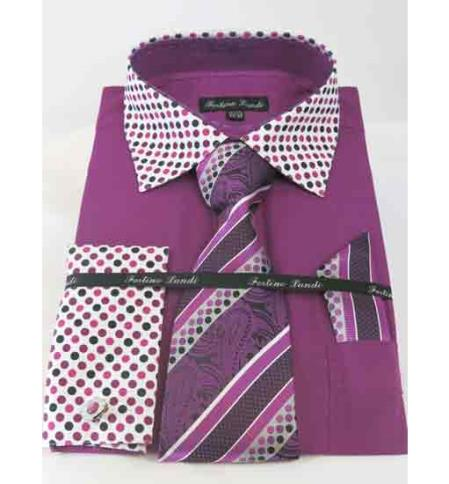 Mens Rose Purple French