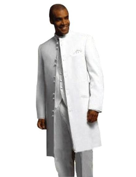 Matrix Style 45 Icnh Full Length no collar mandarin Collar 10 Button (5 x 2 Pair)