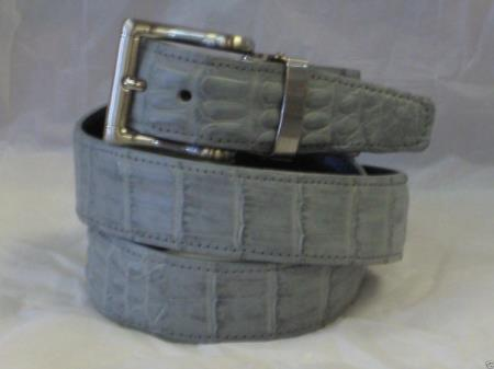 Product# AC-868 Genuine Authentic Gray Crocodile Belt