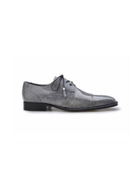 Product# JSM-2041 karmelo Authentic Belvedere Exotic Skin Brand Genuine Lizard Leather Lining Cushion Insole Gray Shoe
