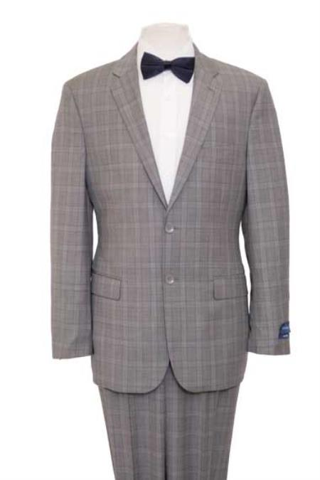 Windowpane Plaid Houndstooth Pattern Texture Wool Fabric Blazer Online Sale Jacket Suit Gray