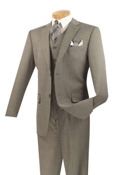 Product# KA6938 3 Piece Wool Fabric Feel Classic Suit– Gray
