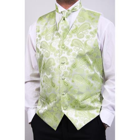 lime mint Four-Piece Vest