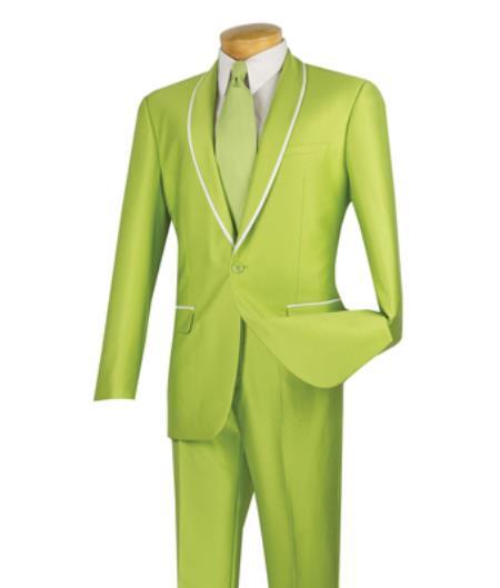 Vinci Lime Green Tuxedo