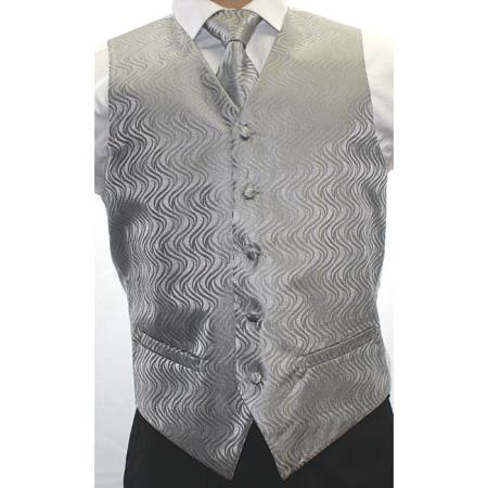 Two-tone Grey 4-Piece Vest