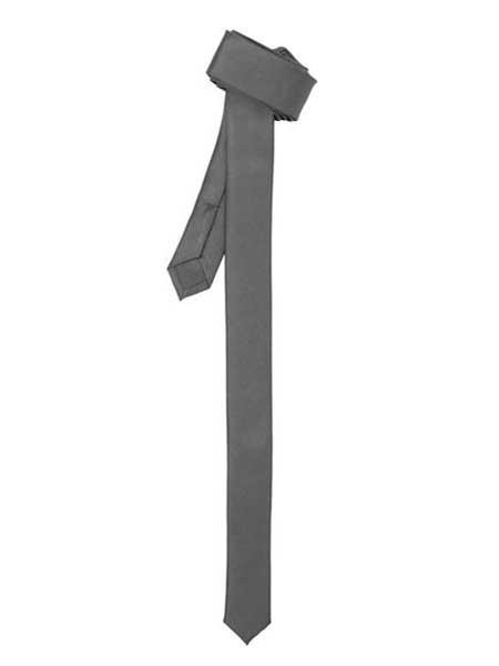 Product# SM1091 Grey Fashionable Superior Fabric Skinny Slim narrow Style Fully Lined NeckTie