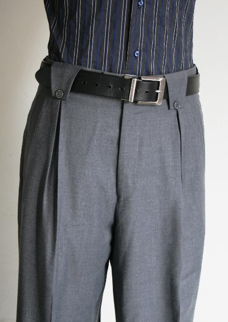 Wide Leg Pants Grey 1920s 40s Fashion Clothing Look !
