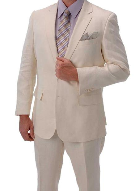 Product# PNZ67 Light Weight Ivory ~ Off White Summer Fabric ivory ~ cream ~ off white Linen Suit