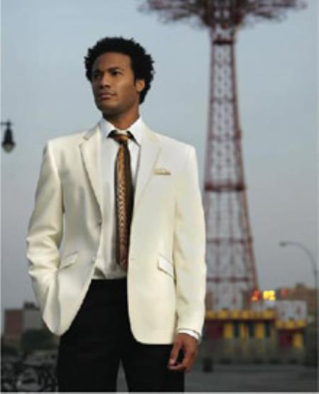 Ivory ~ Cream ~ Off White Tuxedo Suit Jacket Blazer Online Sale With Option Of Color Of Trim