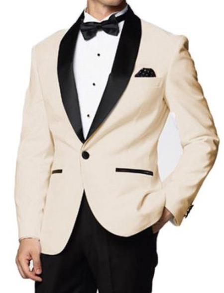 Product# MK644 Downtown Ivory and Liquid Jet Black Skyfall formal tux Jacket Clearance Sale Online