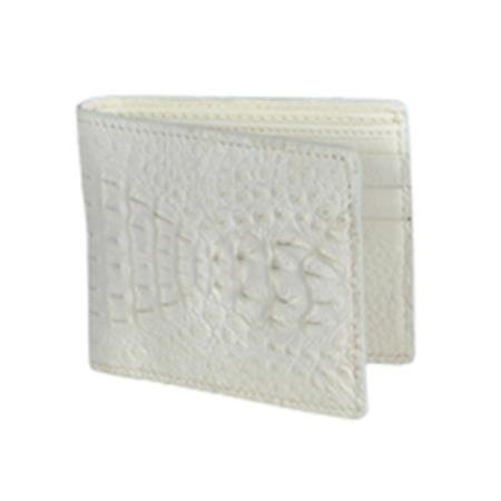 Product# KA6371 Wild West Boots Wallet-Cream ~ Ivory ~ Off White Genuine Exotic cai ~ Alligator skin