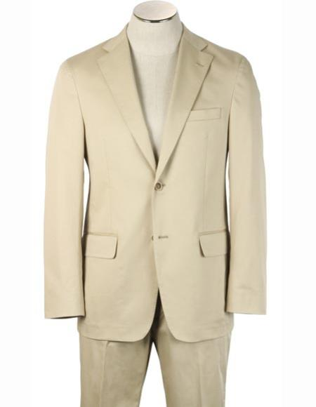 Mens Notch Lapel Cotton