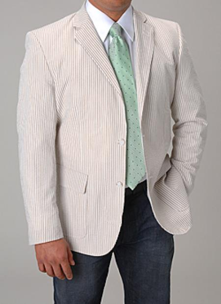 Product# PN-J55 Affazy Khaki Summer Cheap priced Mens Searsucker Seersucker Sale Fabric Blazer Online Sale