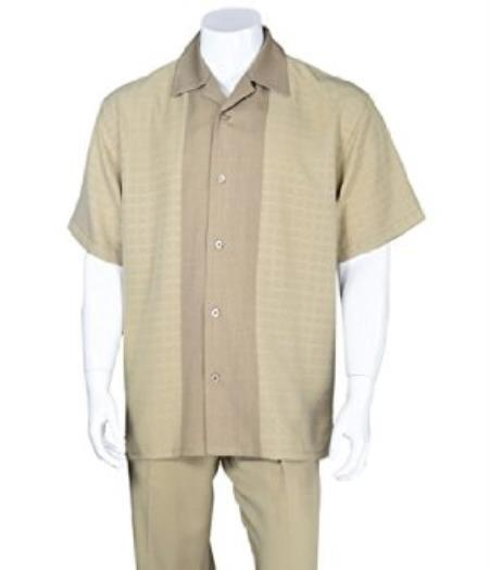 Khaki Church Walking Suit