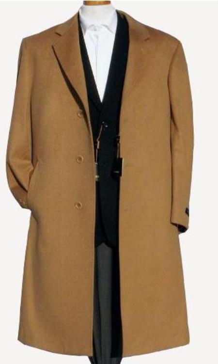 Harward Luxurious Camel ~ Khaki~Bronz soft finest grade of Cashmere & Wool Fabric overcoats outerwear
