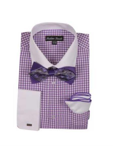 Lavender Checks Shirt French