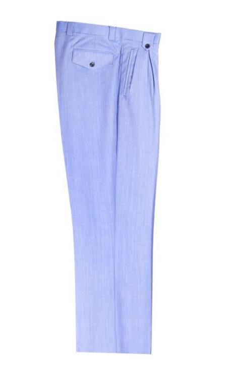 Mens Wide Leg Pleated