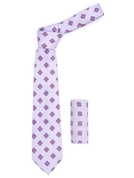 Mens Light Purple Geometric