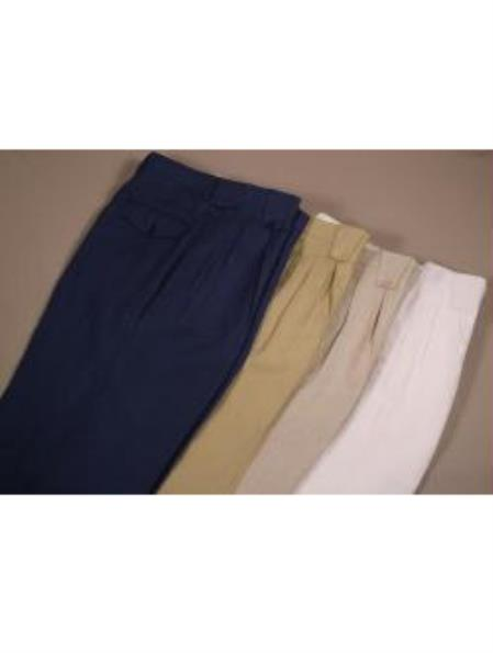 Men's Linen Wide Leg Pants Available in 4 Colors 1920s 40s Fashion Clothing Look !