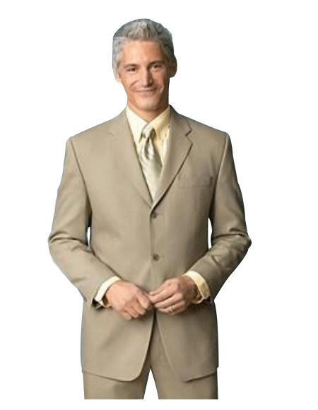 Medium Tan khaki Color ~ Beige Side Vent 100% Worsted Wool Fabric Higher Quality Back Side Vent