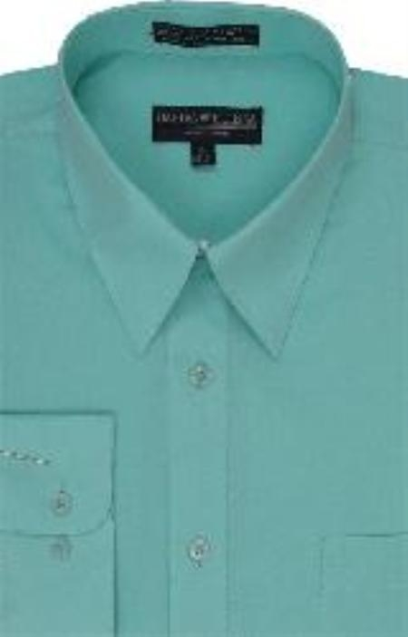 Product# HJ717 Dress Shirt Mint